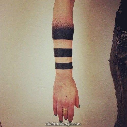 20 étonnants solides Tatouages Armband (1)