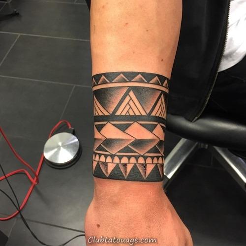20 Incroyable solides Tatouages Armband (4)