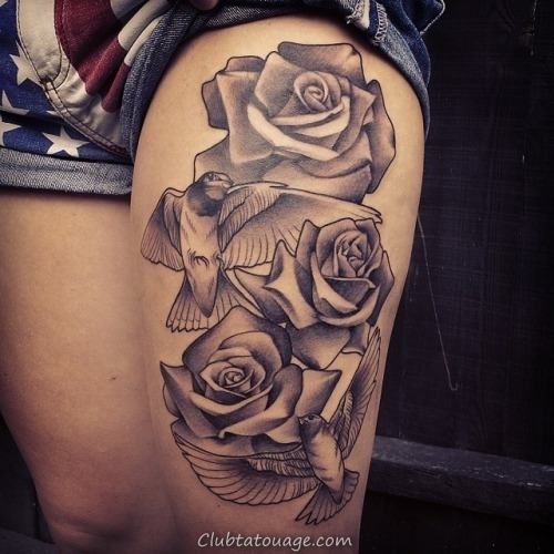 30 Black Rose Tattoo Idées (18)