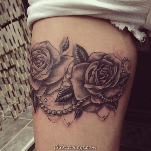 30 Black Rose Tattoo Idées (27)