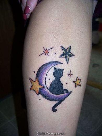 idées Cat Lune Tattoo design