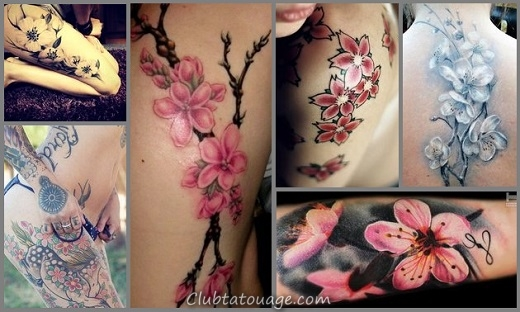 cerise-fleur-Tattoo-Designs