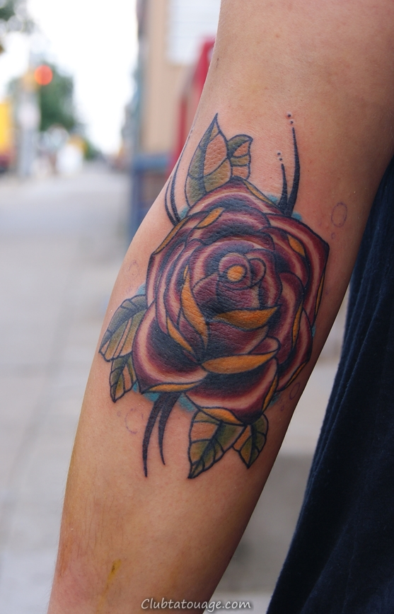 Elbow Rose Tattoo