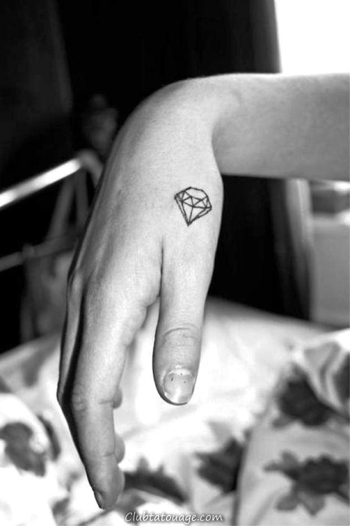 géométriques Tatouages __ petit diamant