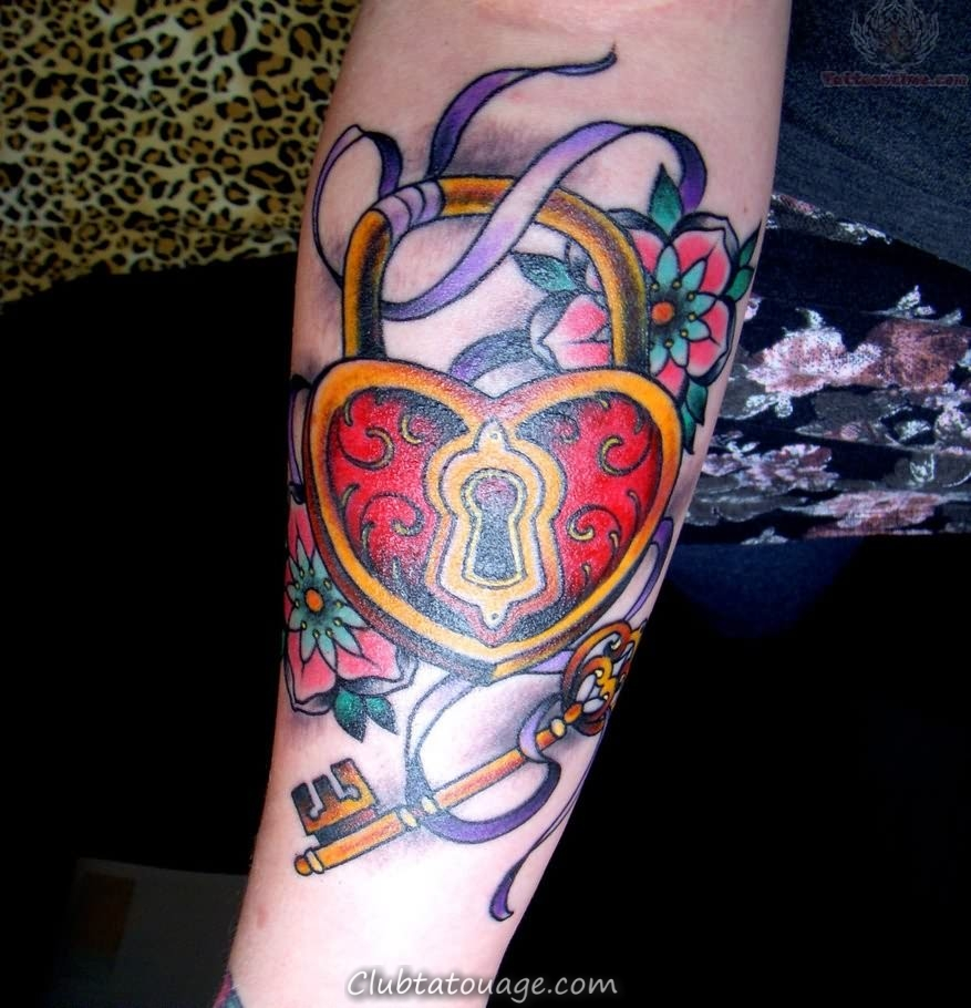 Tattoo Heart Key