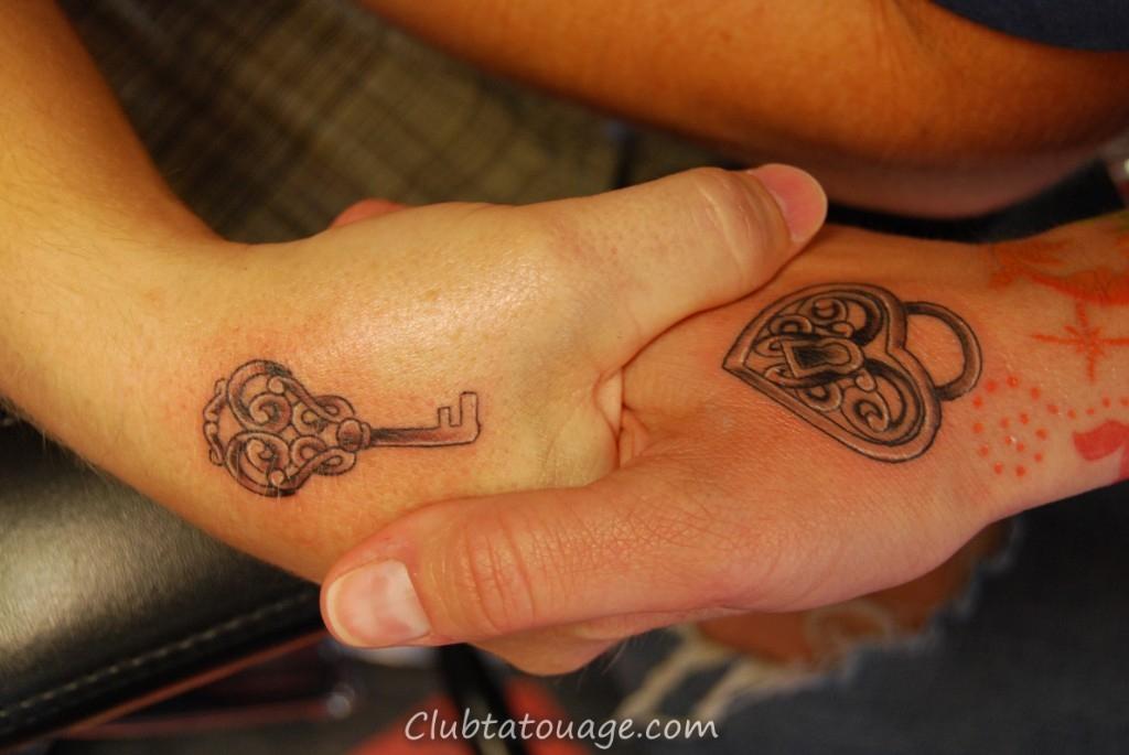 Lock and Key Tatouages Pour les couples