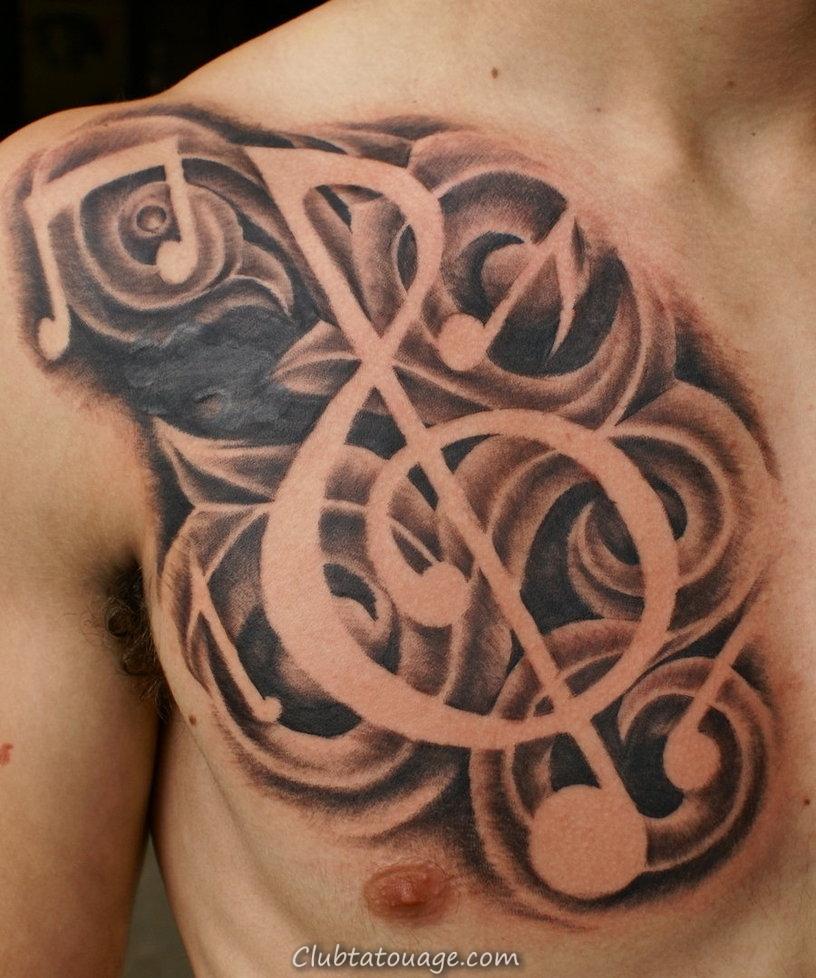 Music note Symbole Tattoo
