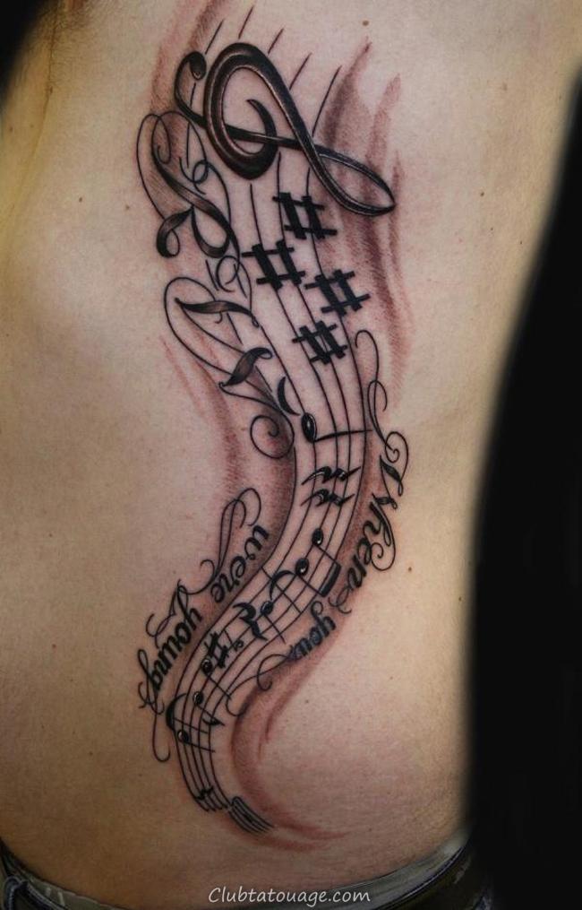 Beliebt Music Note Tatouages - Dessins et Idées - Club Tatouage FP89