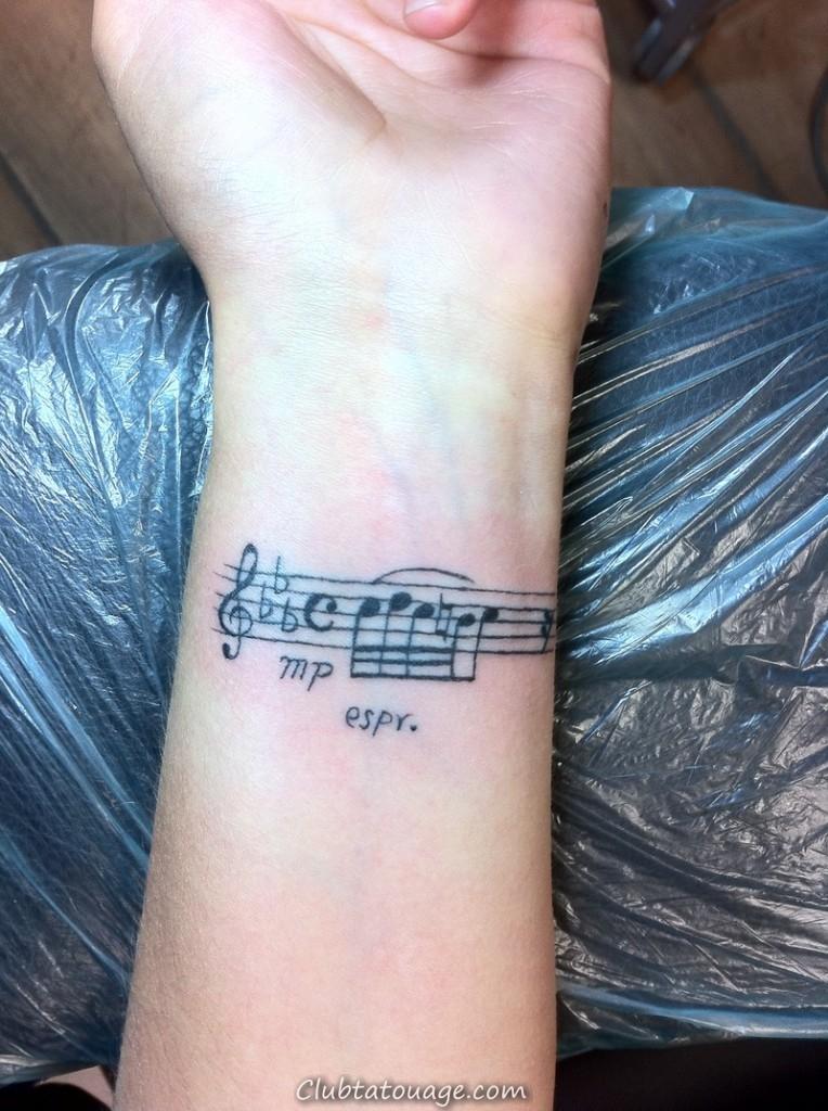 Note de musique Tattoo Designs