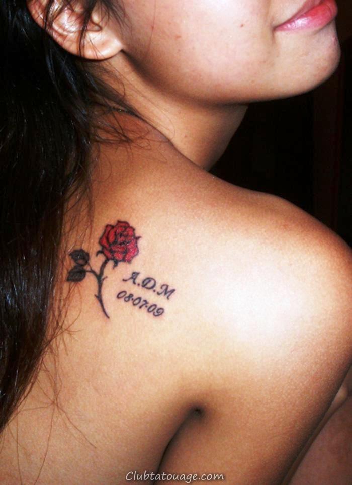 Les petits-Rose-Tattoo-Designs-pour-femmes