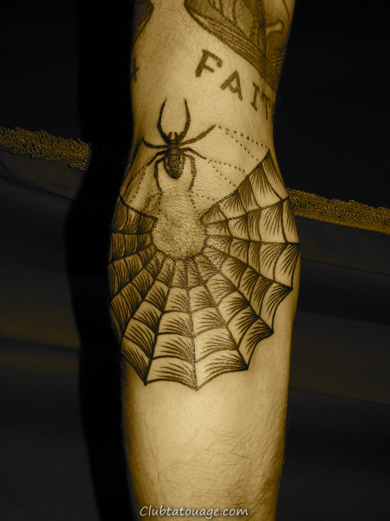 Spiderweb Tattoo Sur Elbow