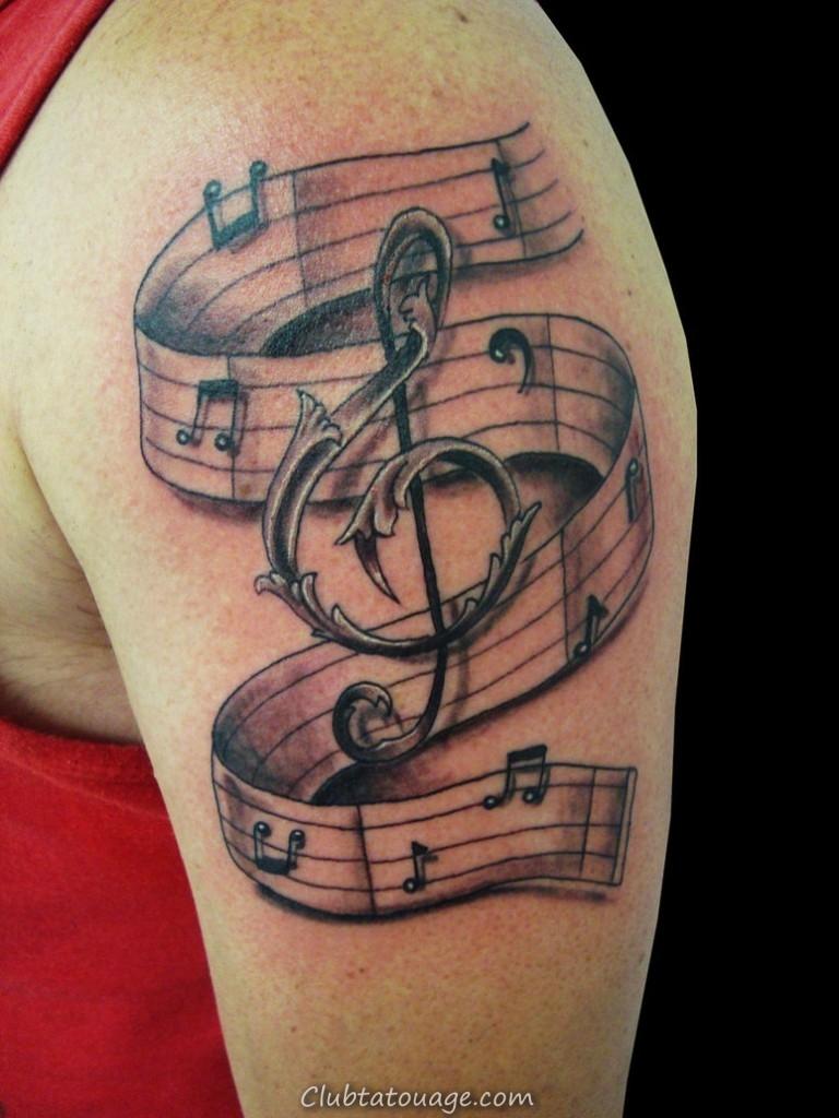 Tatouages de notes de musique