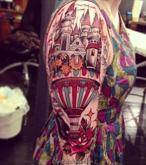 air ballon tatouages sur les bras