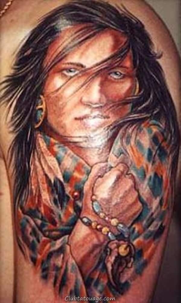 américain tatouage indien 7