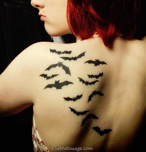 tatouage de chauve-souris pour les filles