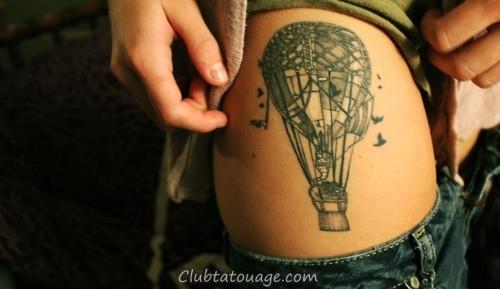 oiseaux air balloon conceptions de tatouage