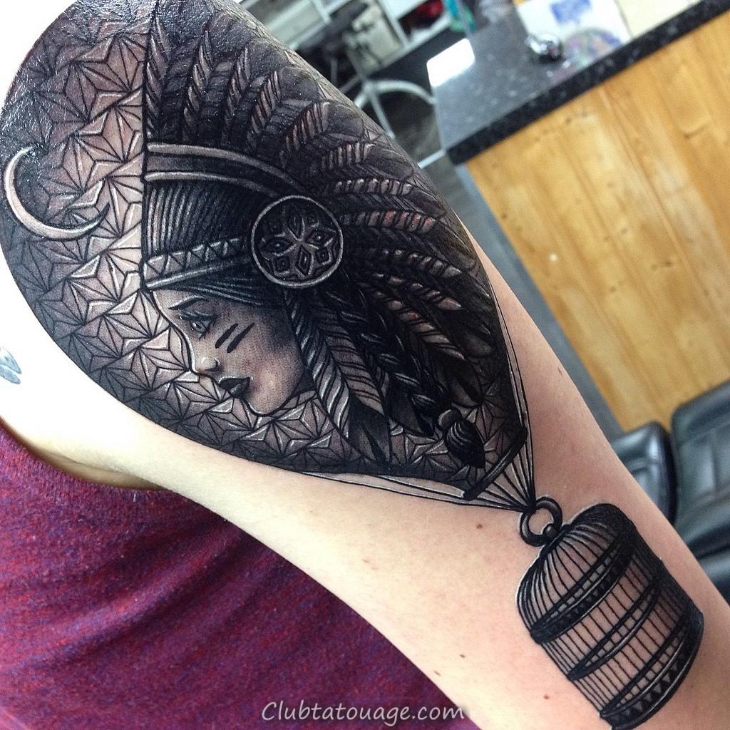 conceptions de tatouage de ballon à air noir