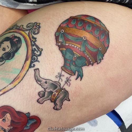 conception de tatouage de ballon de bande dessinée