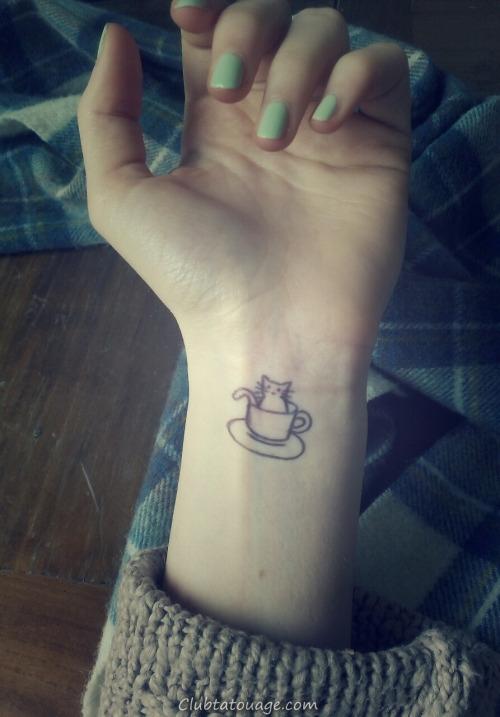idées chat de tatouage