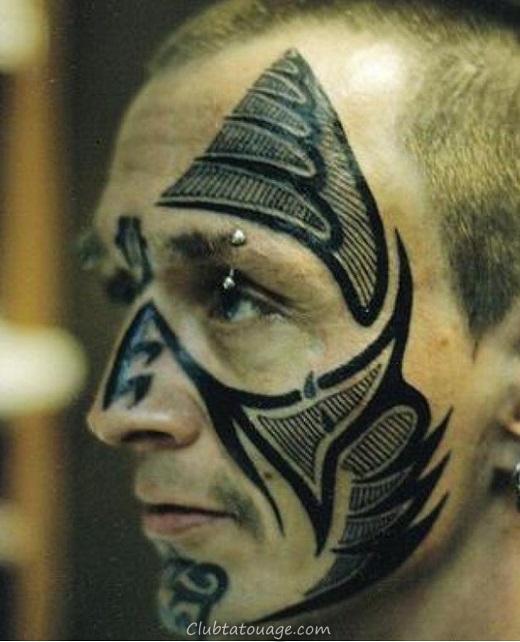 Belle Tattoo Designs sur le visage