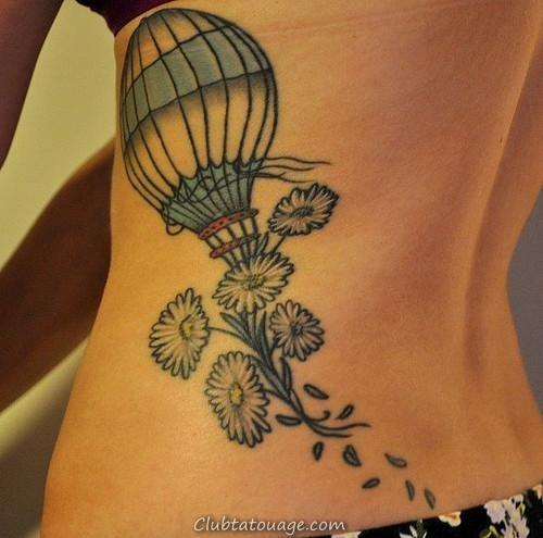 fleurs baloon conceptions de tatouage