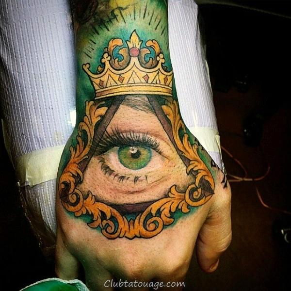 guy-avec-vert-eye-et-jaune-tatouage sur les mains