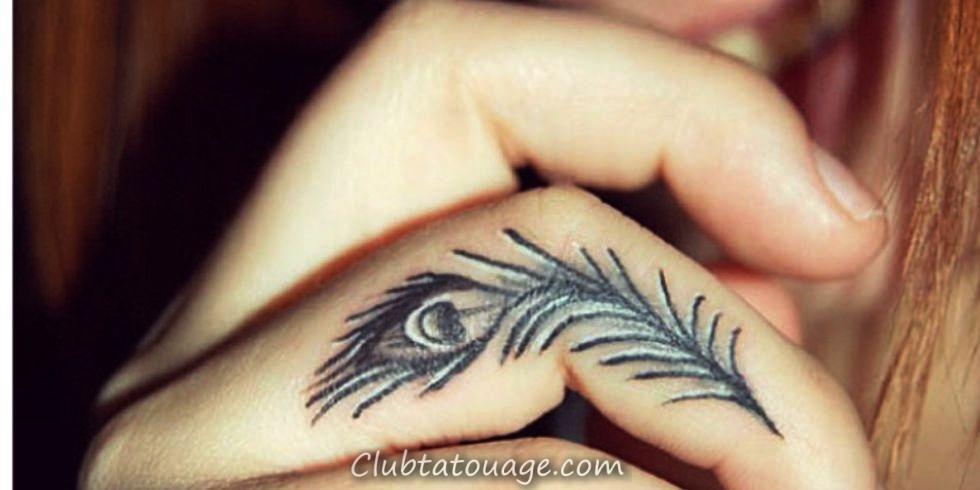 - paon tatouages sur-doigt