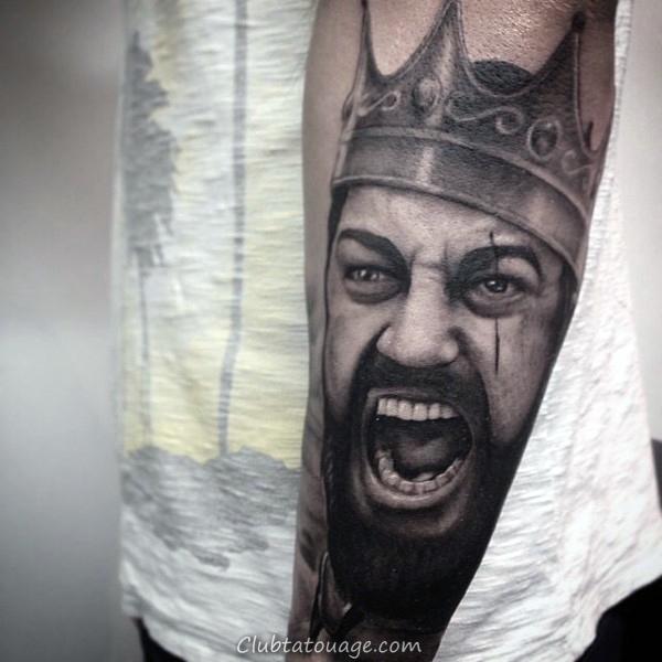 tatouages de la couronne pour les hommes