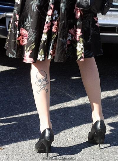 crâne pour la jambe tatouage