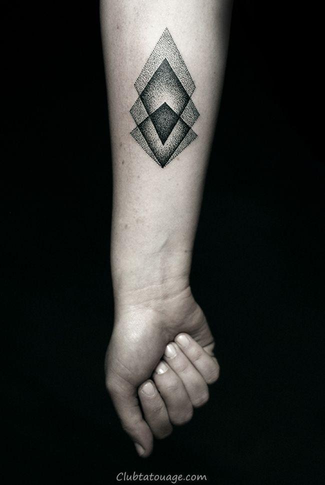 petits tatouages géométriques