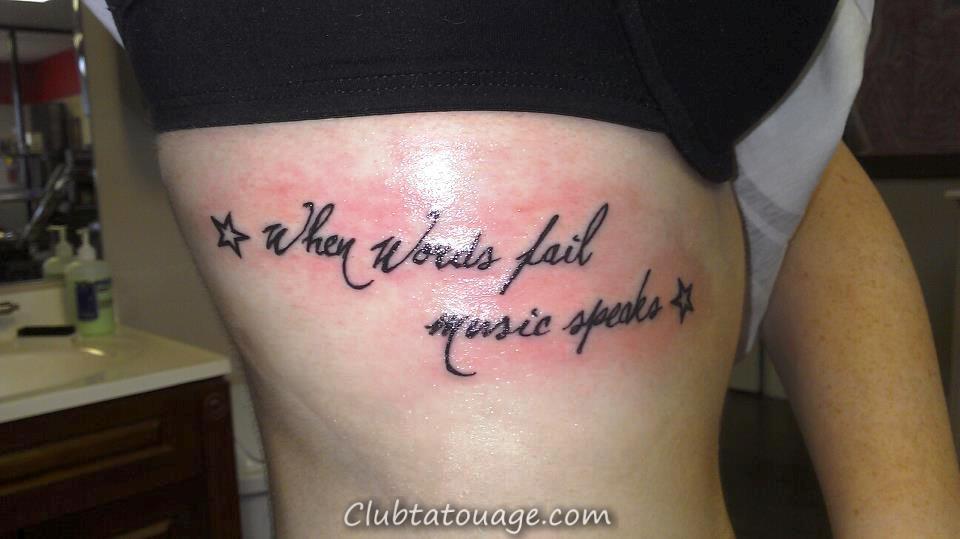 petits tatouages sur les côtes idées