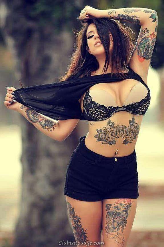 Belles filles tatouées vous aimeriez le plus (23)