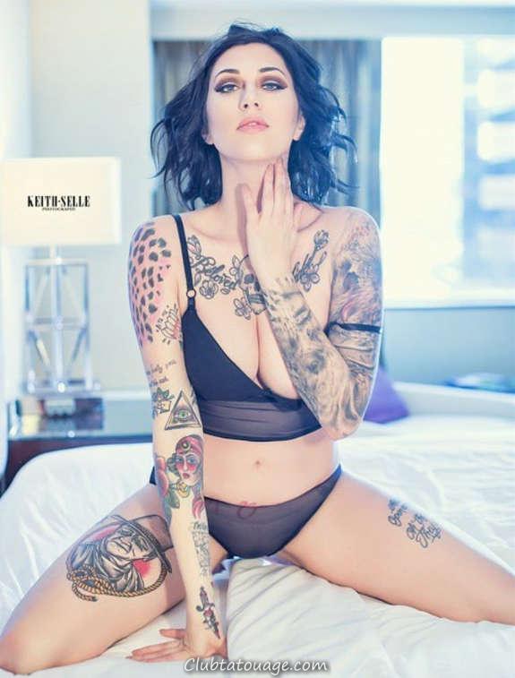 Belles filles tatouées vous aimeriez le plus (32)