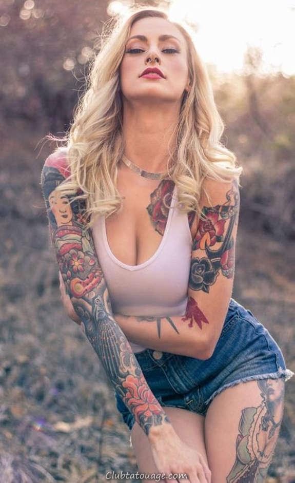 Belles filles tatouées vous aimeriez le plus (34)
