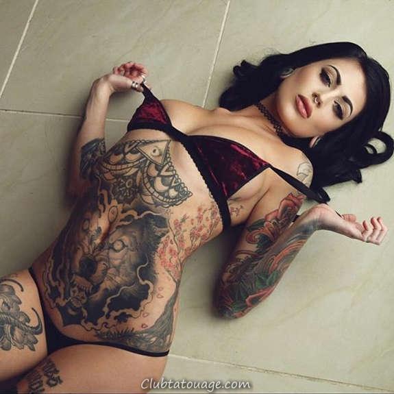 Belles filles tatouées vous aimeriez le plus (4)