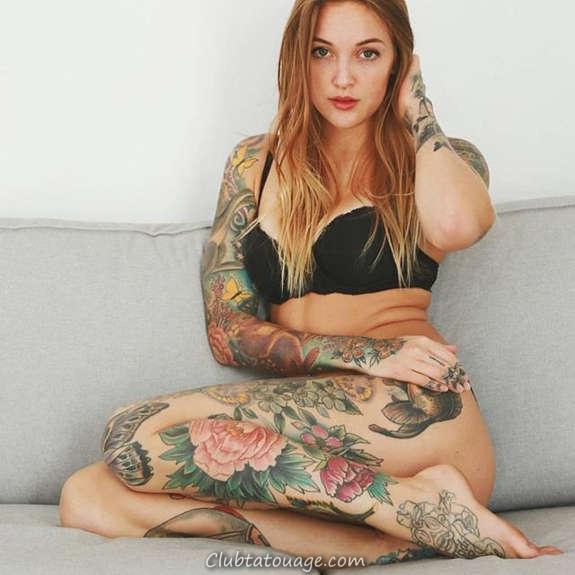 Belles filles tatouées vous aimeriez le plus (8)