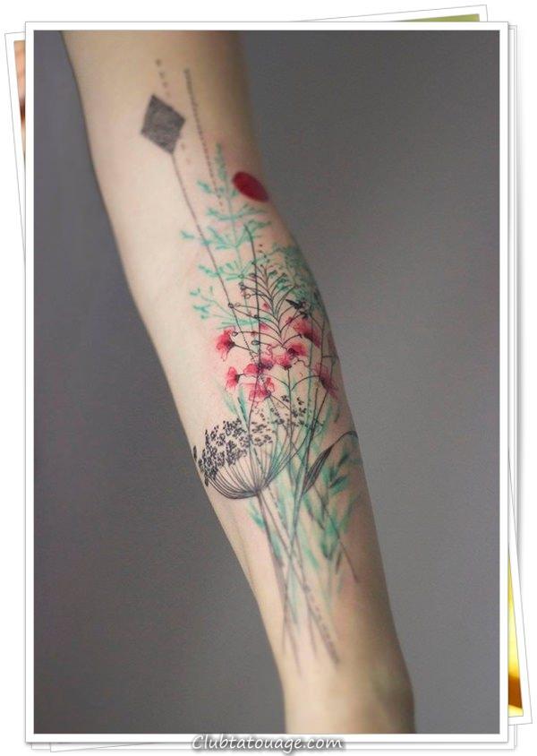 fleurs de tatouages 111