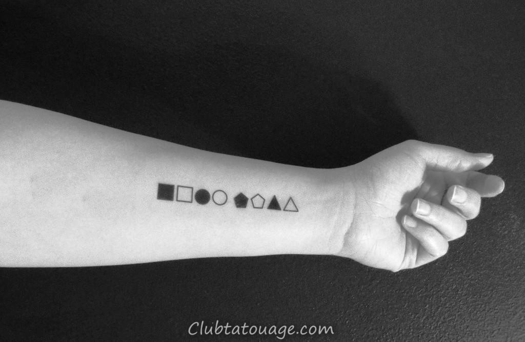 temporaire tatouages-petits-géométriques-formes-faux-tatouages