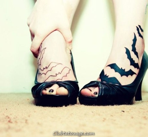 tendre chauve-souris tattoo design