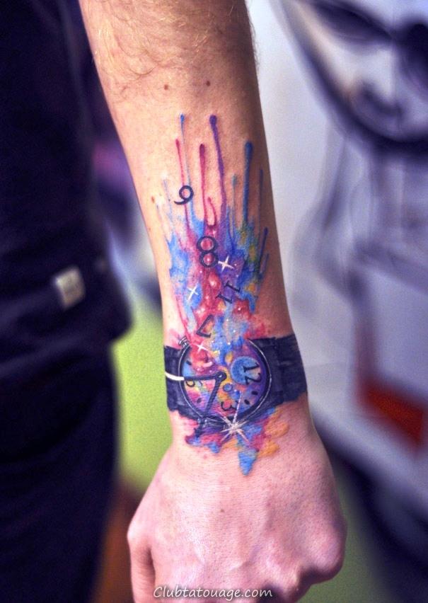 20 idées de petits tatouages Aquarelle
