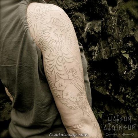 tatouages blancs