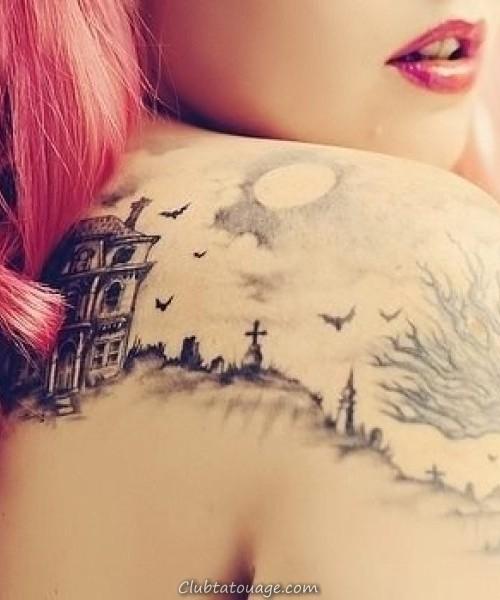 créative bat tatouage