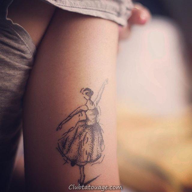 60 Ballerina Tattoos pour vous d'inspirer