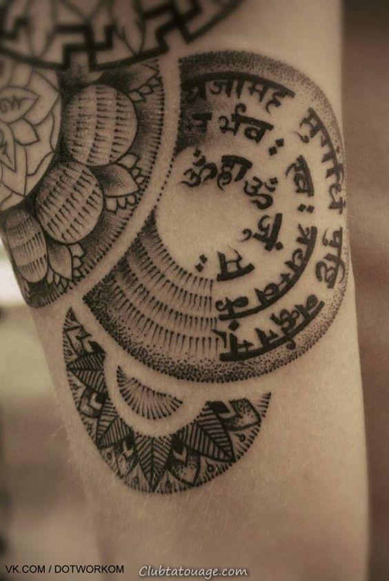 voir femme tibétaine avec un tatouage