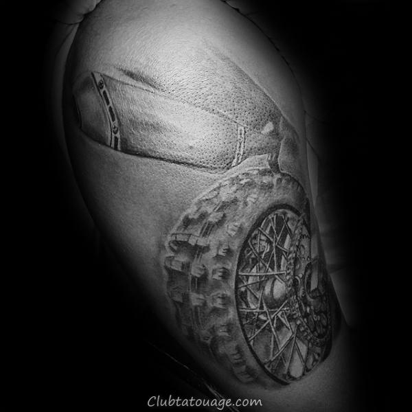3d Motocross Dirt Bike Upper Arm Guys Tatouages