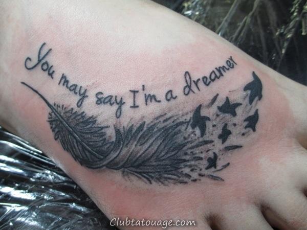 Attractive 40 pieds Idées de tatouage 11
