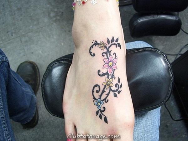 width Attractive 40 pieds tatouage Idées 19