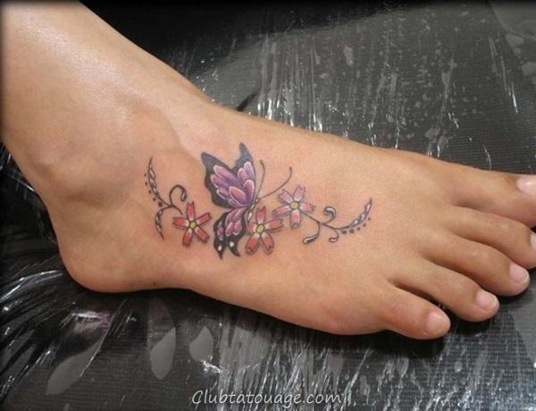 Attractive 40 pieds Idées de tatouage 2