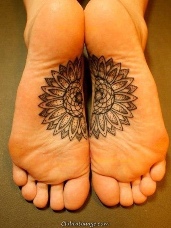 Attractive 40 pieds tatouage idées 20