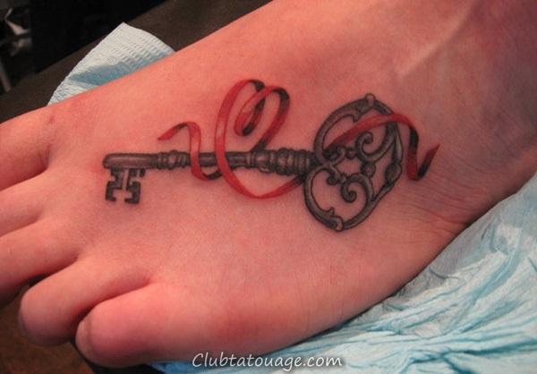 Attractive 40 pieds tatouage idées 22